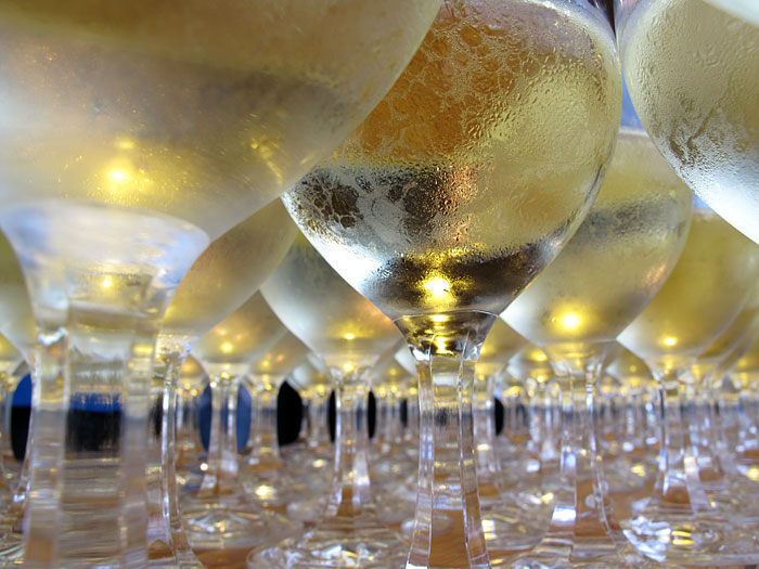 Reykjavík. Wine glasses during the Vernissage. -  (4 September 2010)
