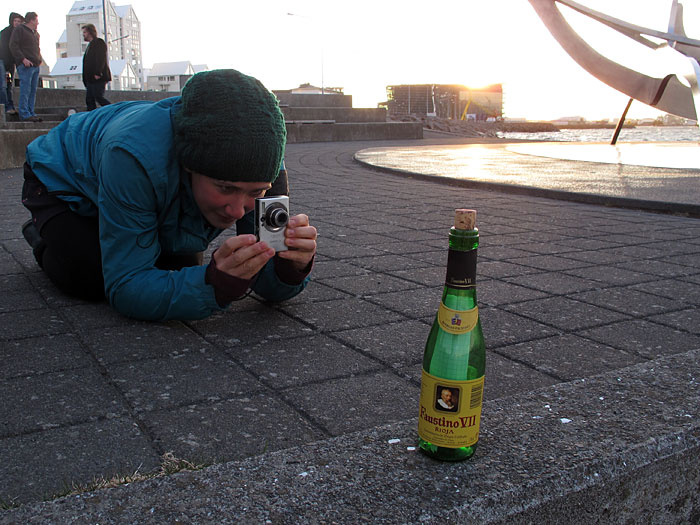 Reykjavík. Where is this bottle now? - Faustino before going on travel... (8 May 2011)