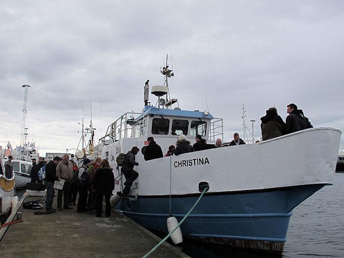 Reykjavík. PP (Post Party). - Going on sea with 'Christina'. (13 May 2011)