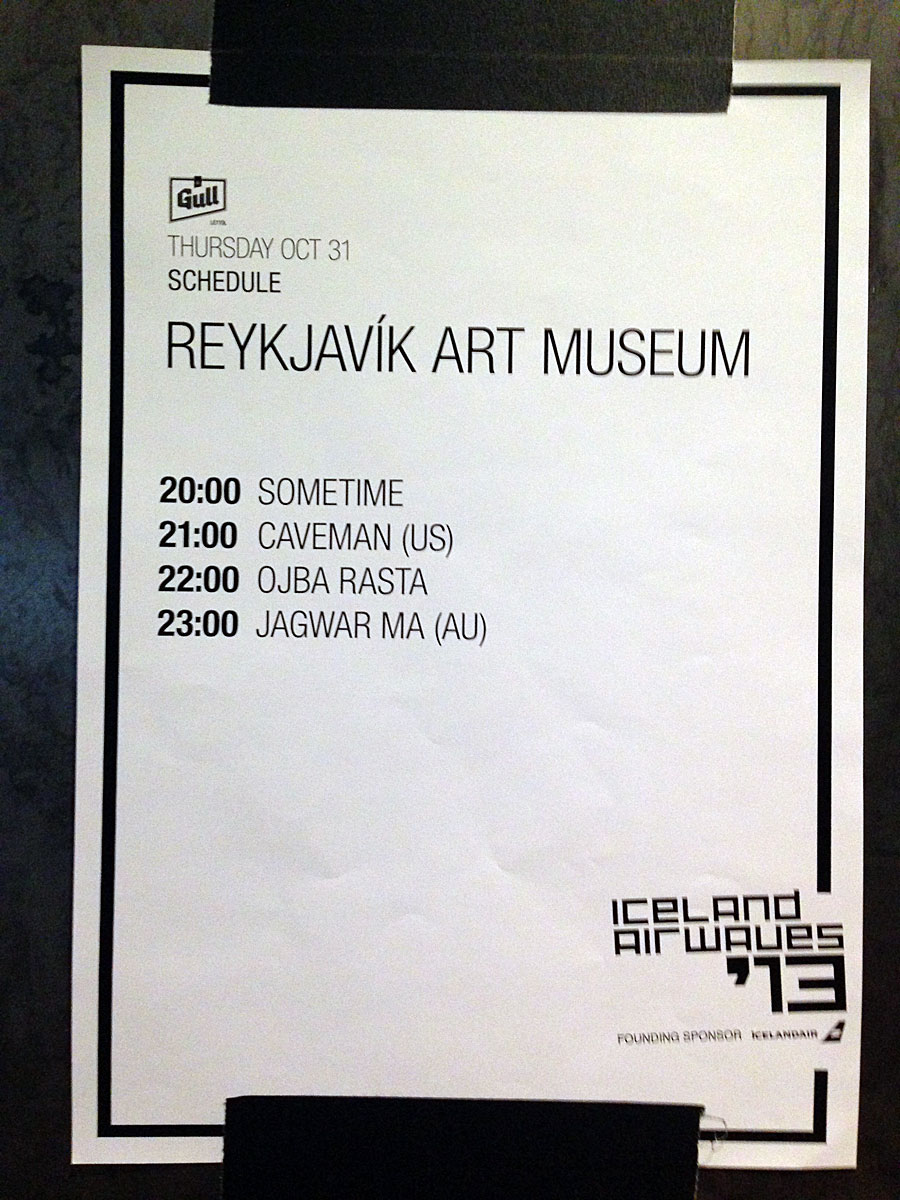 Reykjavík. Iceland Airwaves 2013. Day 2. - Today on stage ... (31 October 2013)