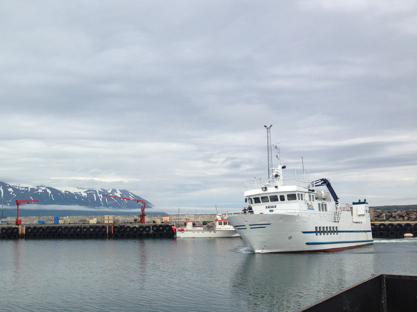 Northern Iceland - Hrísey island. On vacation. - 'Hrísey. Our' ferry arrives ... (22 July 2014)