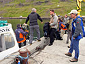 12 August 2008 – Norðurfjörður. Swiss guests on their way to the north.