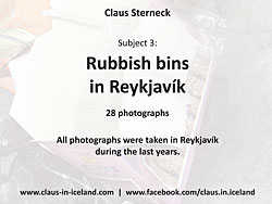 Subject 3 - Rubbish bins in Reykjavík - 28 pictures